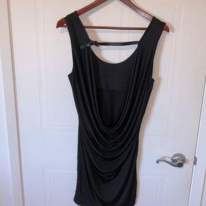 Rudsak backless dress with shimmering leather belt